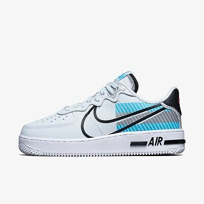 Nike Air Force 1 React LX 3M Shoes Sneakers Pure Platinum CT3316-001 US 7-12 | eBay