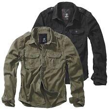 Brandit Riley Herren Denim Jeanshemd Vintage Hemd Jeans Shirt Retro Jeanslook