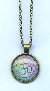 Halskette-OM-AUM-Necklace-Amulett-Bija-Mantra-Hinduismus-Buddhismus-Esoterik