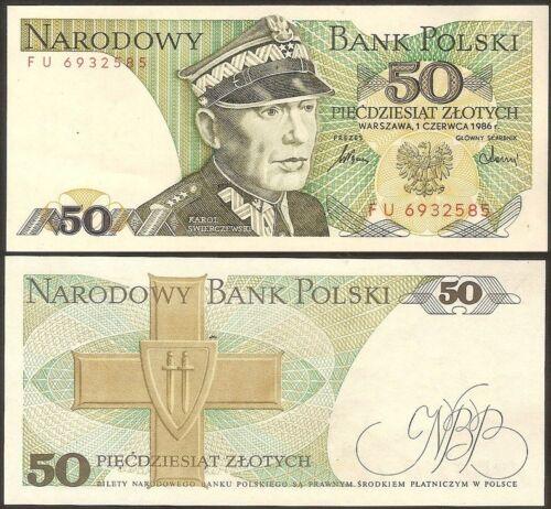UNC POLAND 50 Zlotych 1986 Pick 142c 1986