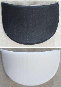 1 Pair Foam Shoulder Pads Sewing/Dressmaking Small-Medium-Large In White/ Black