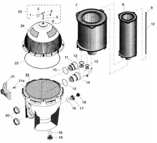 "21/"" Sta-Rite System 3 S7S50 Filtre réservoir O-Ring Rebuild Kit 24850-0008"