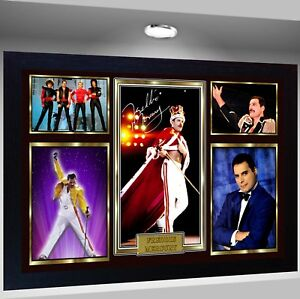 Freddie Mercury Queen signed autograph Music pre-print poster photo Framed