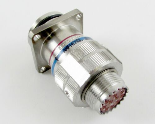 JD38999//26KC98SN Mated to Hermetic Flange Recept 10 Crimp Contacts Connector
