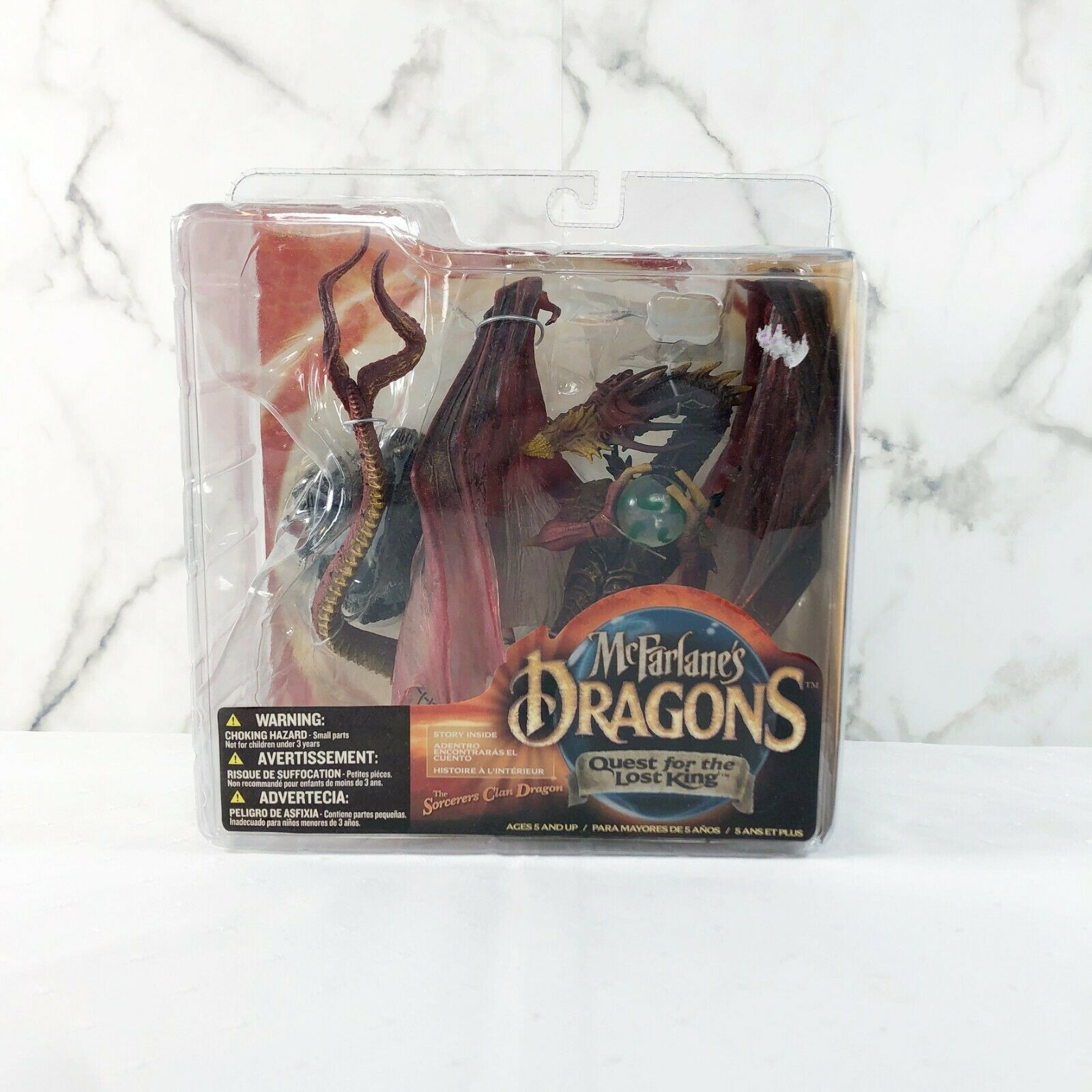 McFarlane's Dragons Quest For The Lost re Sorcerers Clan Dragon RARE nuovo