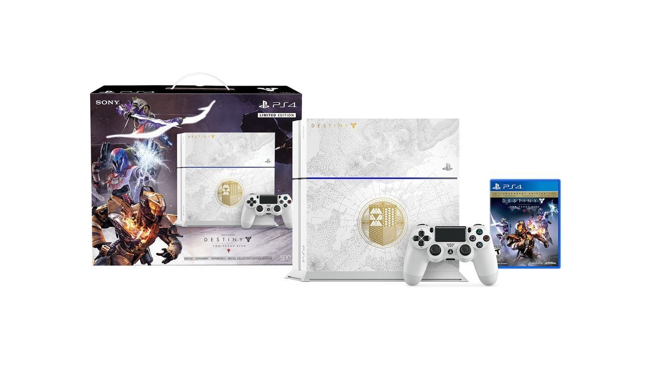 Sony PlayStation 4 Destiny: The Taken King - Limited Edition 500GB Glacier  White Console