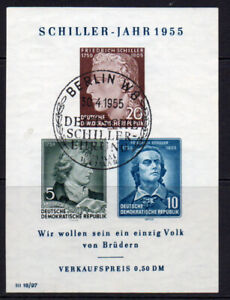 East Germany Miniature Sheet of Stamps c1955 (April) Fine Used (7959)