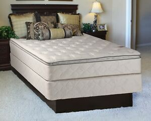 Sunset Plush Inner Spring Pillowtop Queen Size Mattress and Box Set