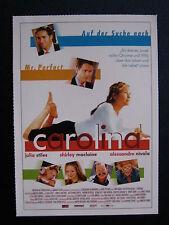Filmplakatkarte cinema  Carolina   Julia Stiles, Shirley MacLaine