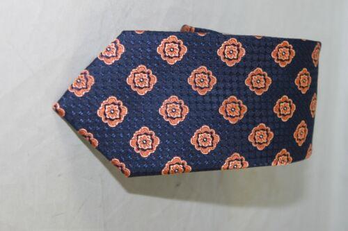 Ted Baker London men/'s Orange Blue Medallion tie MSRP $95
