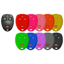 KeyGuardz Keyless Entry Remote Car Smart Key Fob Shell Cover Soft Rubber Protective Case for Cadillac Escalade HYQ2AB