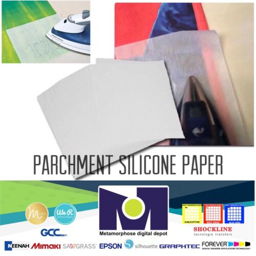 "Silicone Parchment Paper for Heat Transfer Applications 8.5/""x11/"" 50 SHEETS"