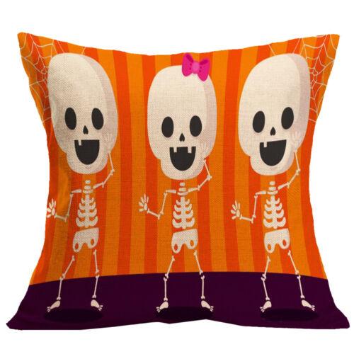 1Stk.Halloween Leinen Kopfkissenbezug Kissenbezug Dekor Haus pillowcase Neu