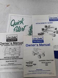 CUB-CADET-1863-1864-54-034-DECK-324-Owners-Manuals