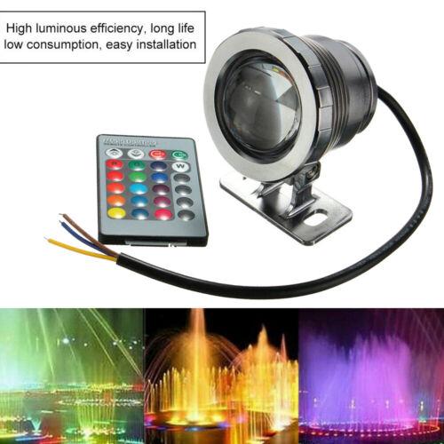 20W RGB LED Light Fountain Pool Pond Spotlight Underwater Waterproof Remote