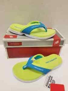 Balance JoJo Lime/Blue Flip Flops Size