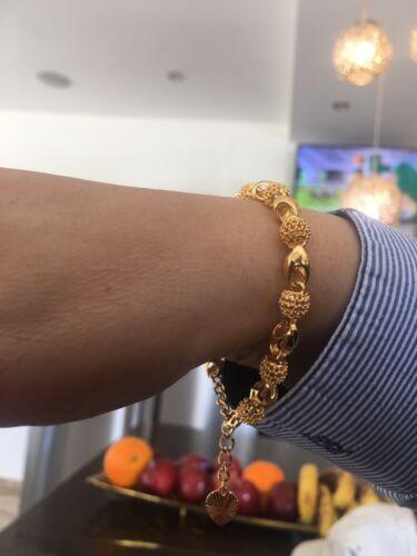 Bracelet Adjustable 21cm Adult Size Gold Filled Bangle Carat 22k Lady's 22Ct