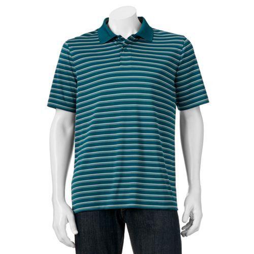 NWT CROFT /& BARROW Men/'s Cool /& Dry Sriped Polo Shirt XL