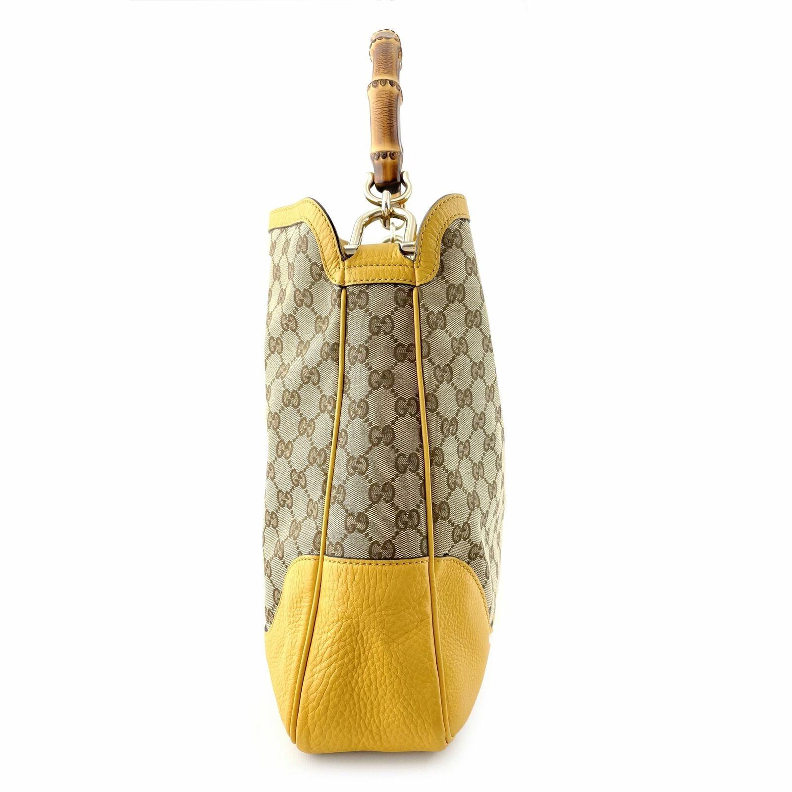 Gucci GG Canvas Diana Bamboo Shoulder Bag - Beige… - image 5
