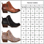 Womens-Ankle-Boots-Low-Mid-Block-Heels-Leather-Suede-Chelsea-Zip-Up-Shoes-Size