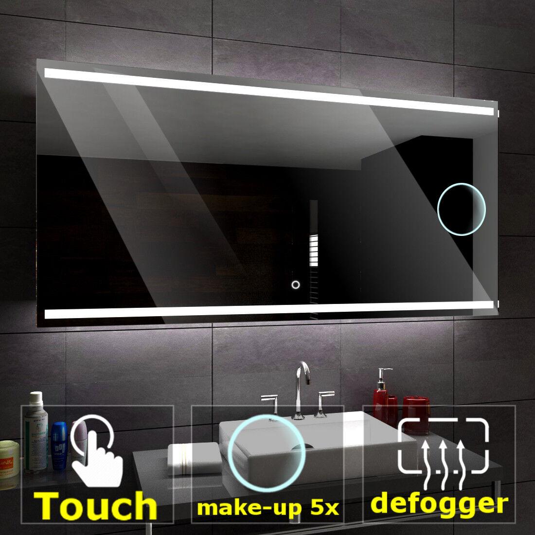 Denver éclairé del Miroir salle de bain LED interrupteurs maquillage