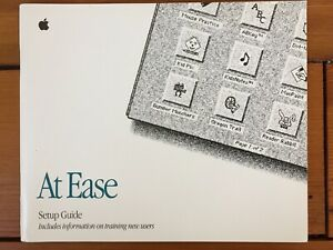 Vtg Apple 1992 Macintosh Mac At Ease Software Set Up Guide Training Manual Book