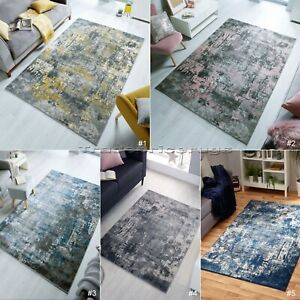 SMALL-LARGE-ABSTRACT-DISTRESSED-FADED-PILE-VINTAGE-LOOK-RUGS-amp-RUNNERS