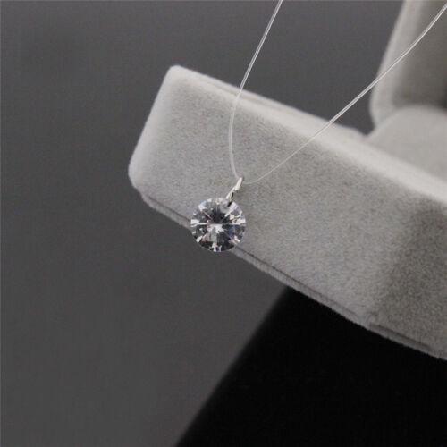Transparente Angelschnur Schlüsselbein Halskette Zirkon Anhänger Halskette DJ