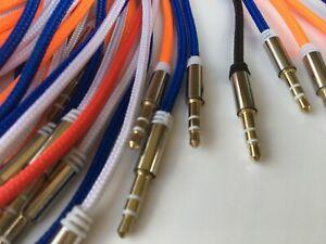 1m Aux Kabel Stereo 3,5mm Klinke Audio Klinkenkabel für iPhone Handy Auto Grün