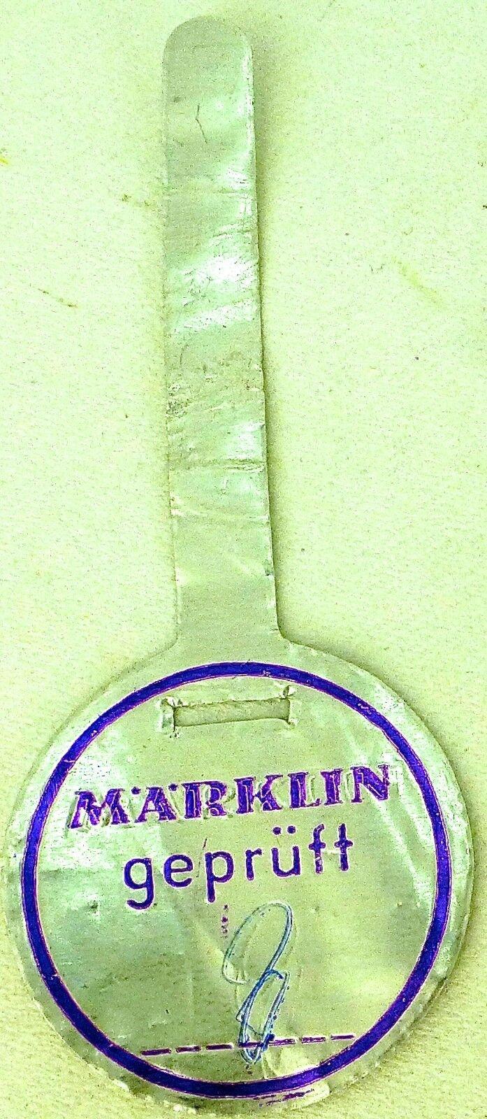 Prüfsiegel Märklin purple 8 å sch