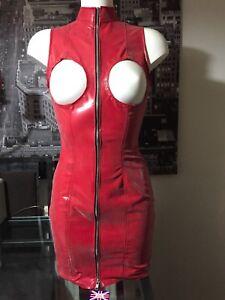 Dominatrix Colors La Boob Zip Rubber Latex All Less Federazione Dress rPxqPY6F