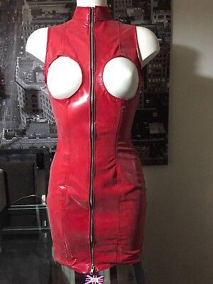THE FEDERATION RUBBER LATEX MILITANT DRESS BRAND NEW CROSS DRESS