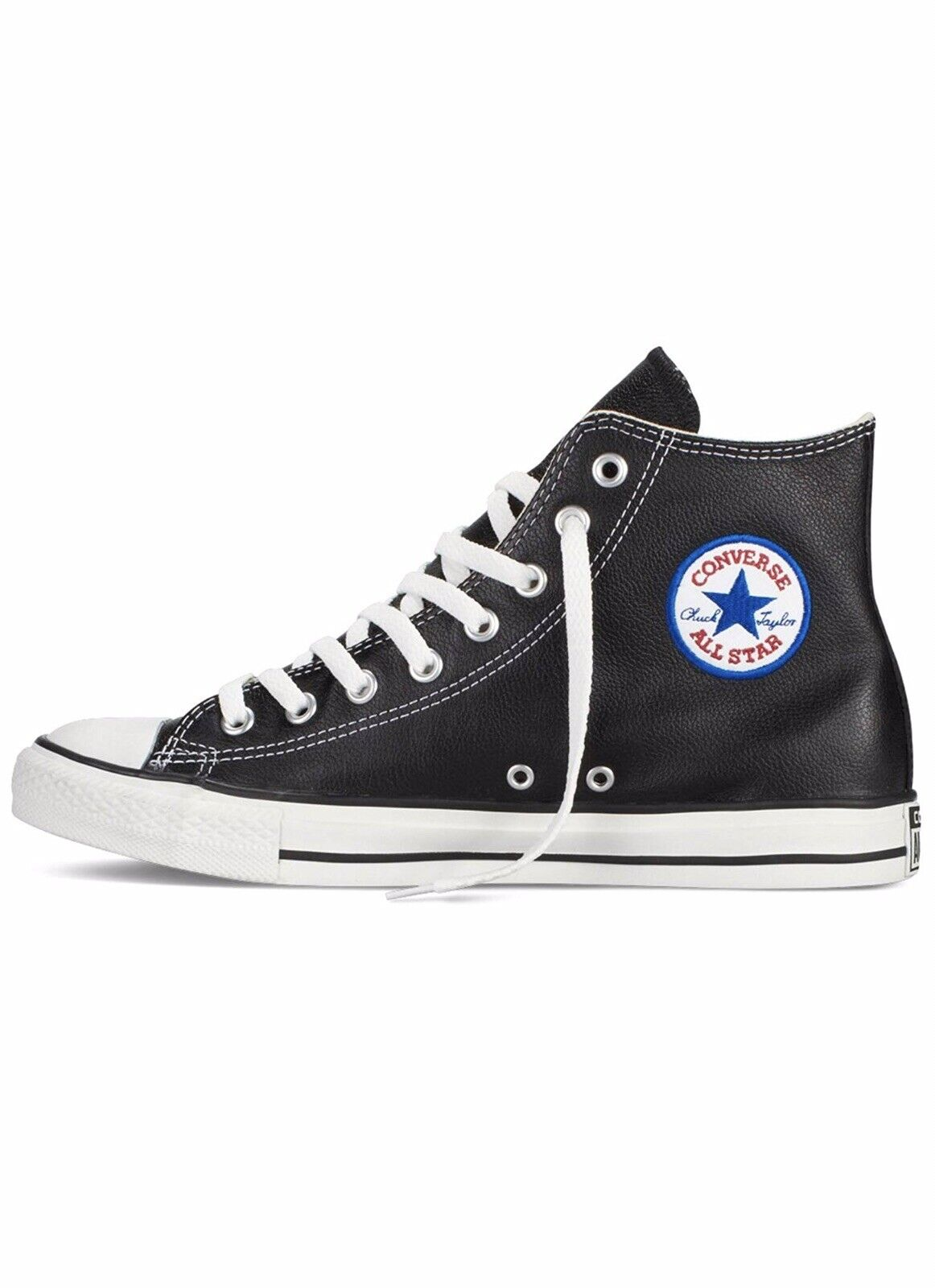 Converse Chuck Taylor All Star Chaussures Hi-CUIR NOIR-HOMME Taille 9.5 US