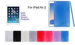 Screen-Protector-S-line-Skin-Soft-Gel-Back-Case-For-Apple-iPad-Air-iPad-Air-2