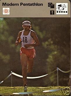 MODERN PENTATHLON 1977 FOCUS ON SPORTS CARD