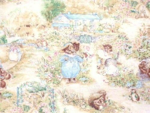 Tom Kitten 3 Little Kittens Beatrix Potter Fabric Nursery Allover on White BTY