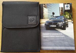BMW 4 SERIES GRAN COUPE OWNERS MANUAL HANDBOOK & FOLDER WALLET SET ...