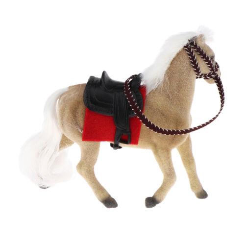 Brown Mini Horse Farm Animals Figure Fits 1//12 Dollhouse Micro Landscape