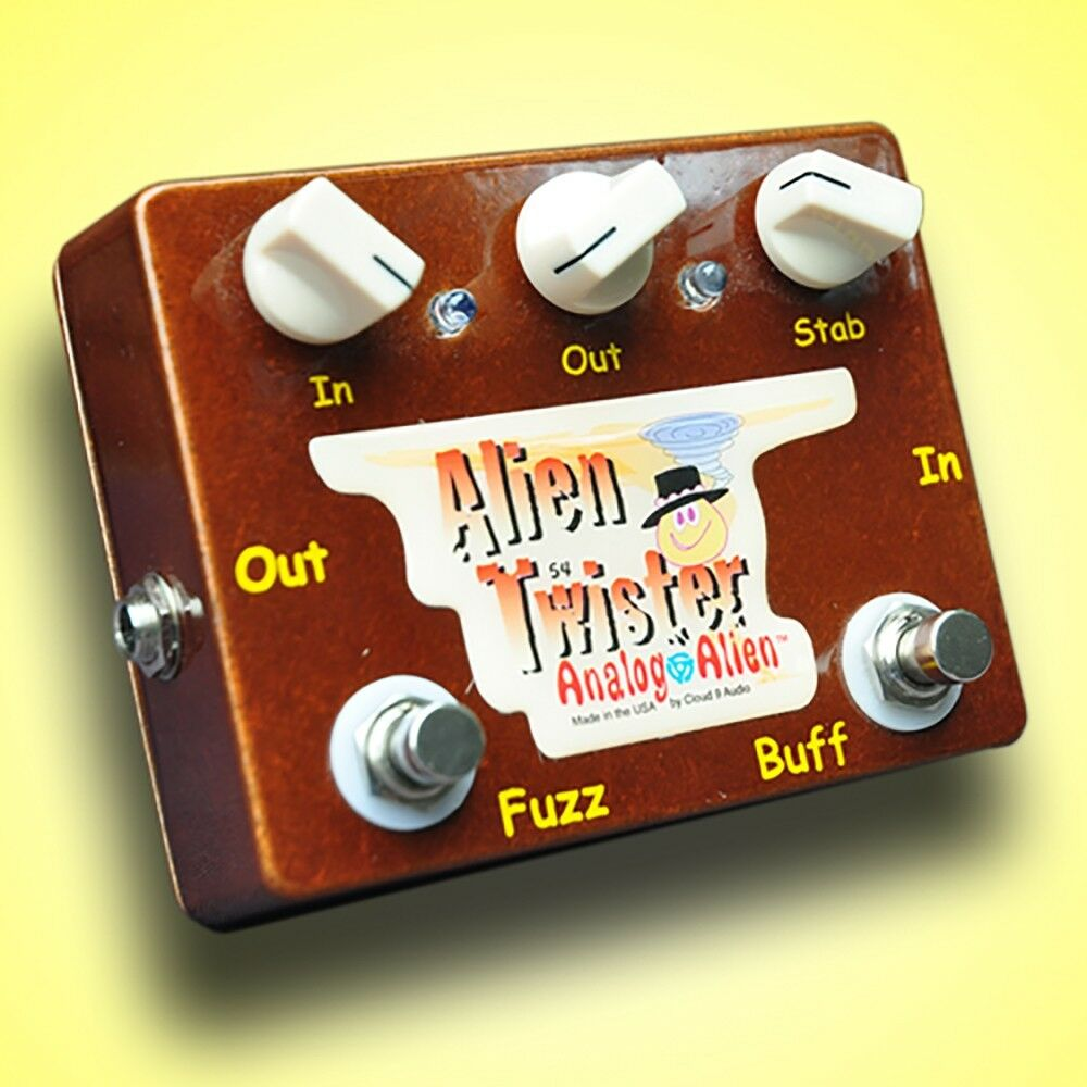 Analog Alien Twister Fuzz   Buffer Guitar Effects Pedal