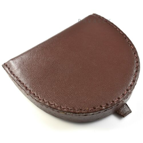 REAL LEATHER COIN HOLDER TRAY Ladies Gents Mens Womens wallet purse