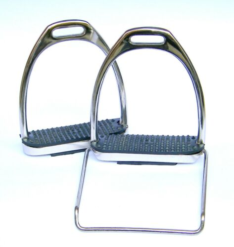 AMIDALE MOUNTING STIRRUPS WITH STEP UP BAR STAINLESS STEEL BNWT
