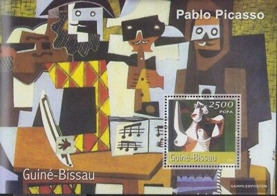 Art Topical Stamps Conscientious Guinea-bissau Block339 Postfrisch 2001 Gemälde