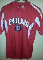 England Soccer Jersey/men/ 100% Polyester/red/white/okey Dokey/short Sleeves
