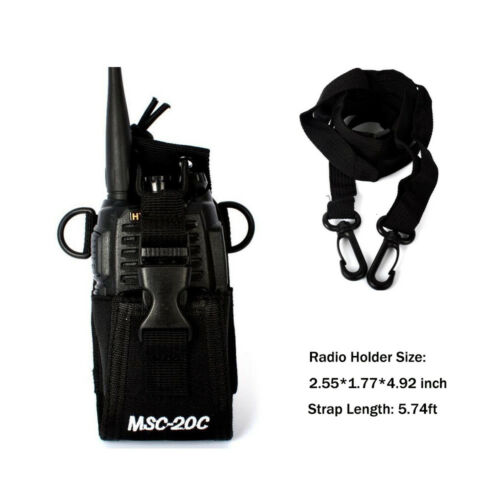 Walkie Talkie Radio Nylon Case Holder Strap for Kenwood ICOM YAESU Motorola