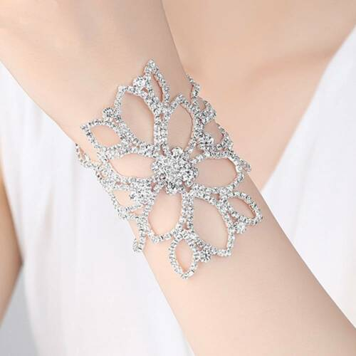 Fashion bras Cristal Bracelets Floral Mariage Cheville mariage fiançailles bijoux