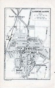 85 La Roche-sur-yon 1925 Pt. Plan Ville + Guide (2 P.) Equebouille Forges Haras 7dcjd9zn-07233258-347660057