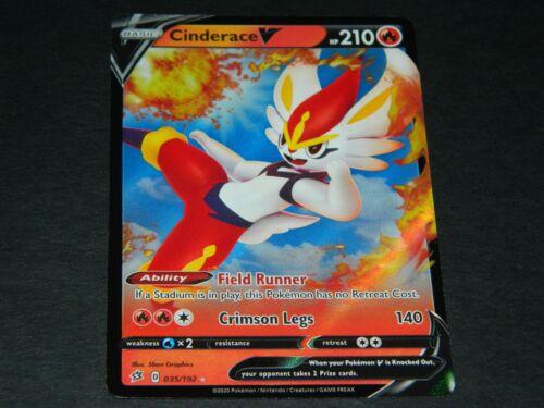 Pokemon S/&S Rebel Clash Set ULTRA RARE Cinderace V 035//192 NM//M Condition