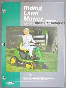 Original-Clymer-Riding-Lawn-Mower-Service-Manual-1st-Edition-Vol-2-1992-amp-Later