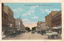 Main Street Looking West in Chanute KS Postcard