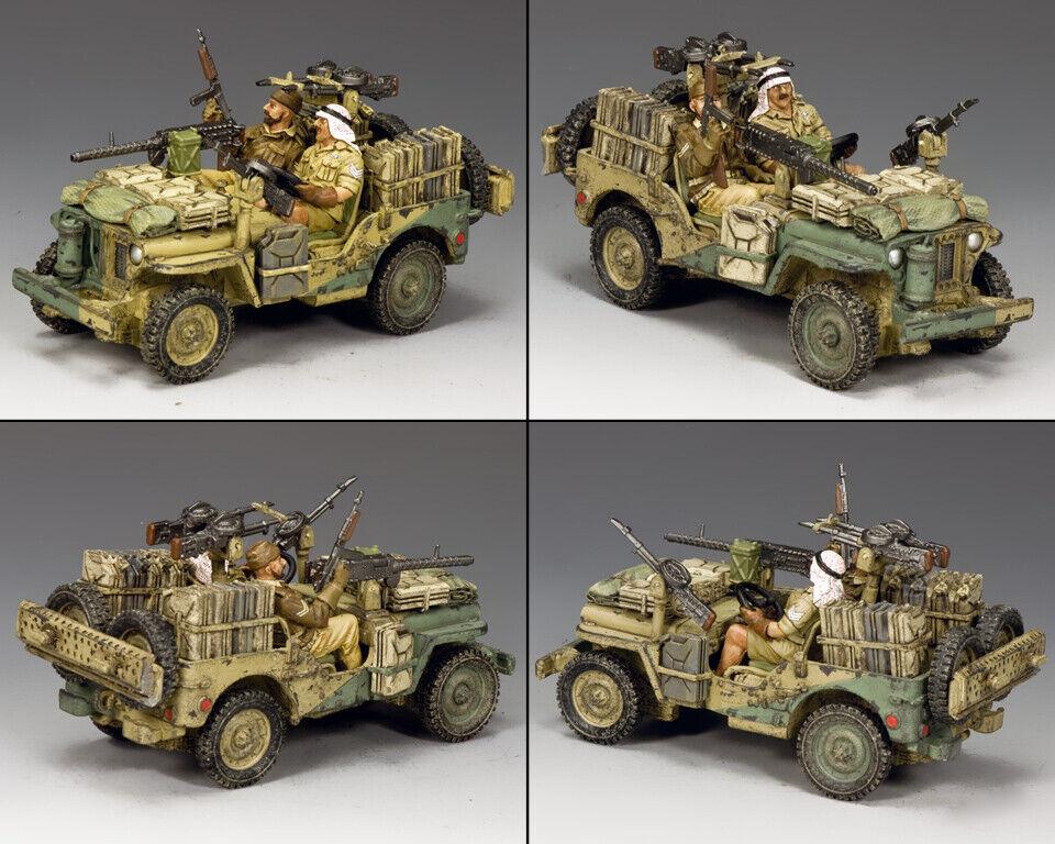 King & Land Eighth Armee Ea115 Hohe Reichweite Wüsten Gruppe Angriff Jeep Set